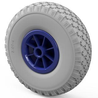1 x PU hjul (grå / blå)