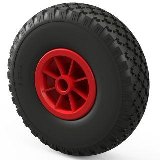 1 x PU hjul (sort / rød)