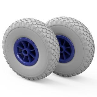 2 x PU hjul (grå / blå)
