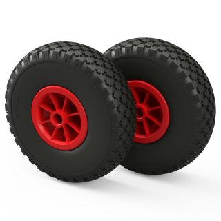 2 x PU hjul (sort / rød)