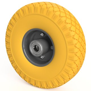 1 x PU Rad (gelb/grau)