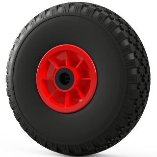 1 x PU Wheel (black/red)