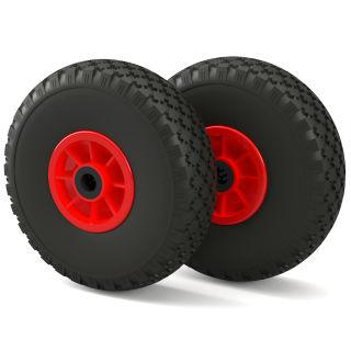2 x PU Wheel (black/red)