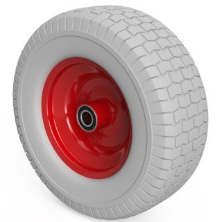1 x roue PU (gris / rouge)