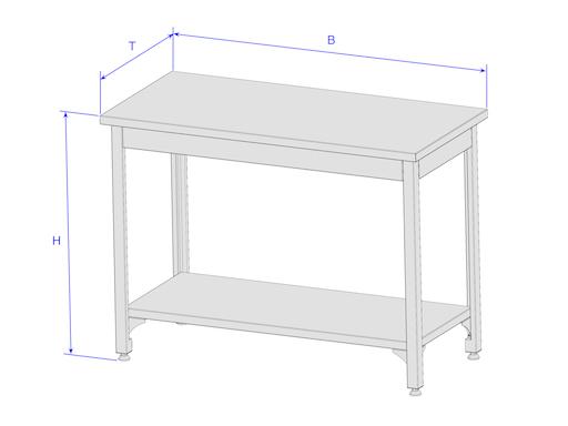 edelstahl tisch untergestell f r k che gastro aquarium terrarium k nigsprod asteria 119 90. Black Bedroom Furniture Sets. Home Design Ideas